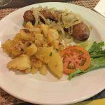 Thüringer Bratwurst mit Bratkartoffel