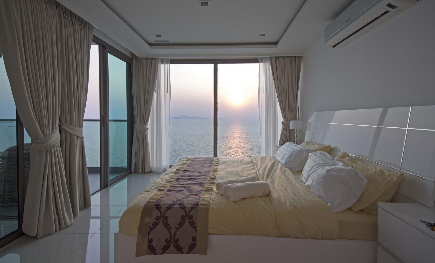 Schlafzimmer im Wongamat Tower Naklua -Front Wohnung am Strand