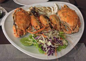 Mixed Seafood im Surf & Turf Restaurant am Wongamat Beach, Naklua