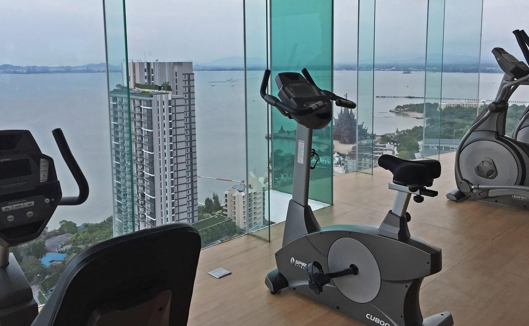 Fitnesscenter im Wongamat Tower - Wohnen in Pattaya