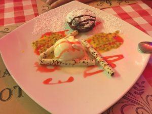 Schokoladen Souffle im Grottino - 200 THB