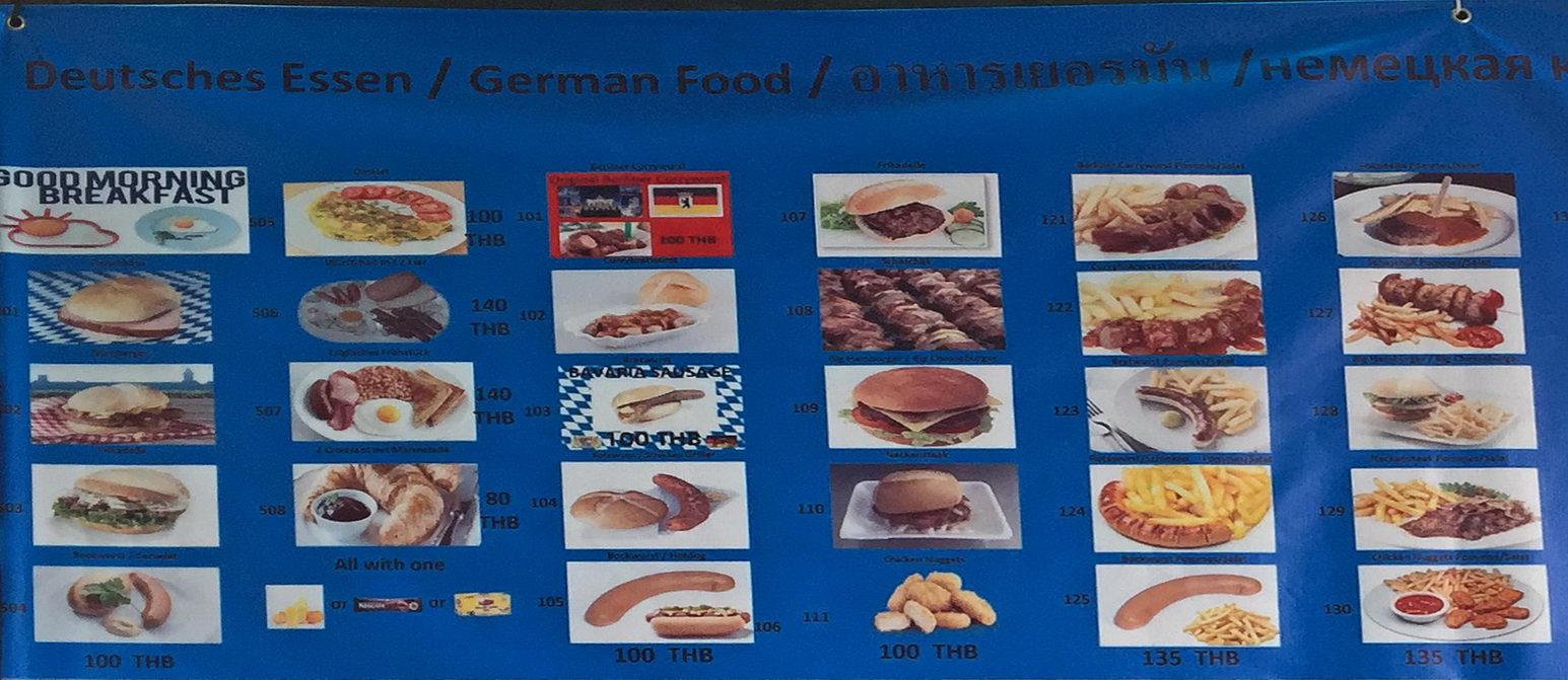 Speisekarte / Menü Deutscher Imbiss