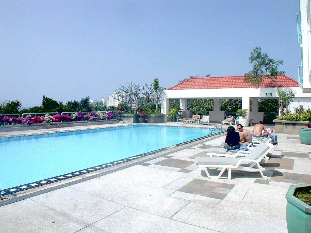Entspannung am Swimmingpool
