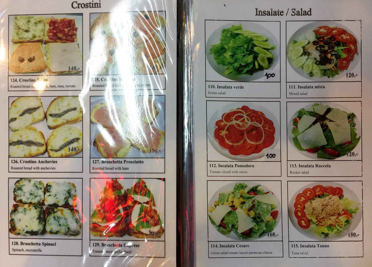 Speisekarte Bella Italia - Italienisches Restaurant Naklua
