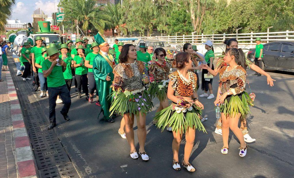 Sankt Patricks Day Pattaya Beach Road 2017