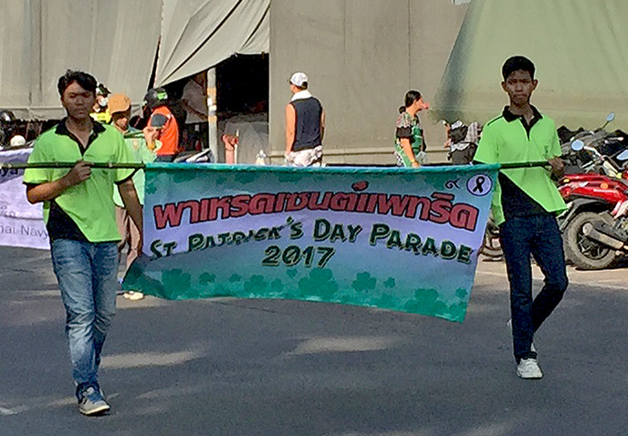 St. Patricks Parade in Pattaya 2017