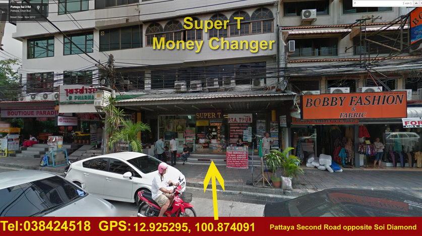 Super T in Pattaya : Thailändische Baht in Euro tauschen