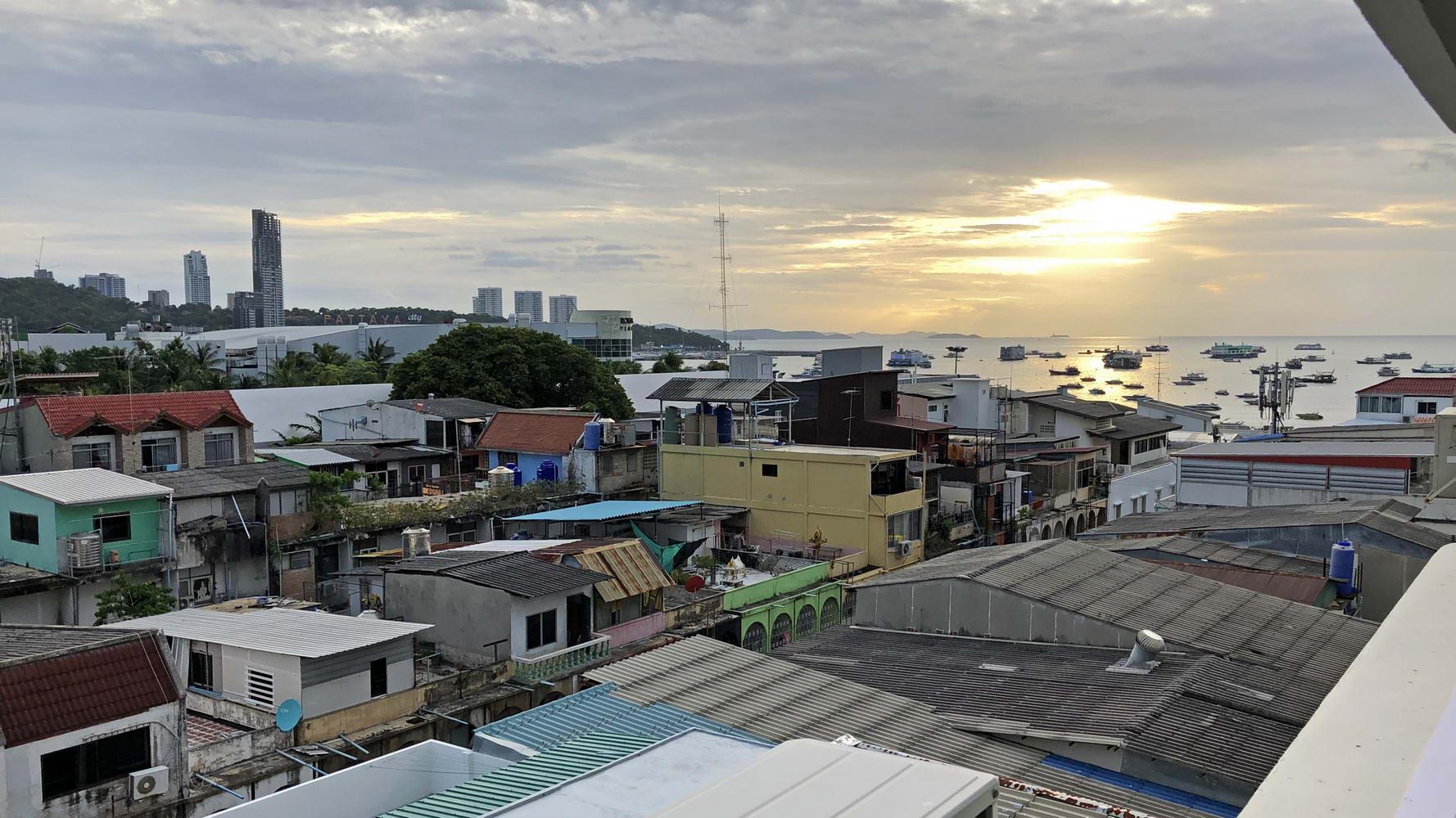 Südpattaya vom Pattaya Beach Condo aus fotografiert
