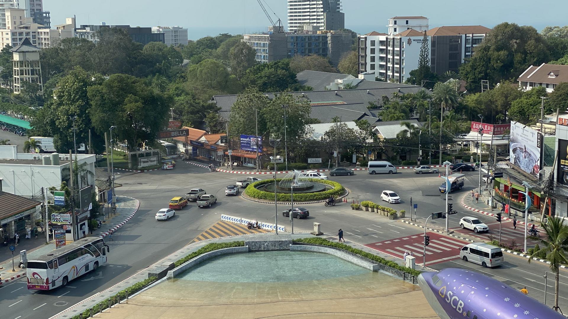 Kreisverkehr in Naklua Pattaya von oben