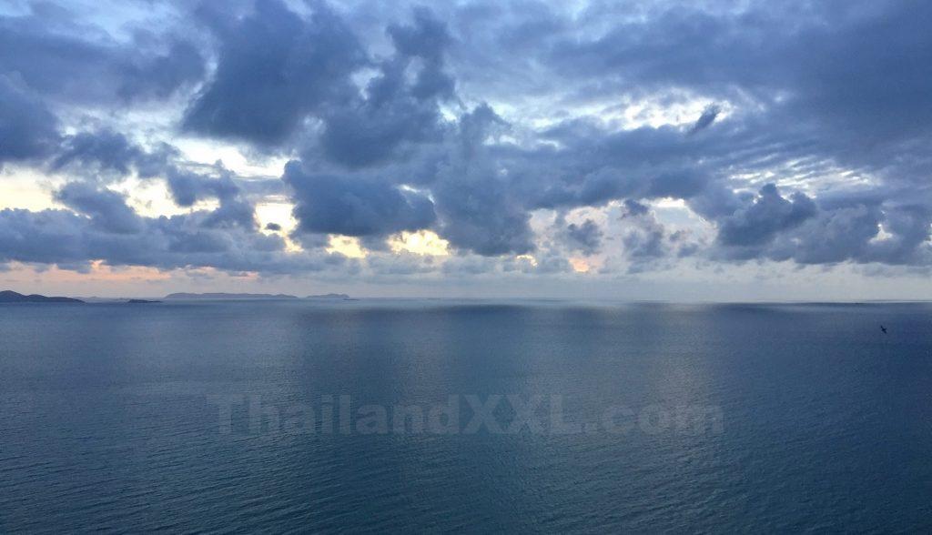 Foto Abendstimmung Naklua Pattaya Wongamat Strand