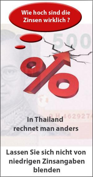 Vorsicht Hohe Kreditzinsen in Thailand bei Ratenkrediten