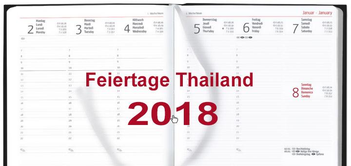 Offizielle Feiertage Thailand 2018
