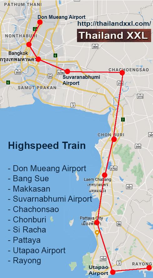highspeed train - Hochgeschwindigkeitszug - Bangok - Pattaya- Rayong