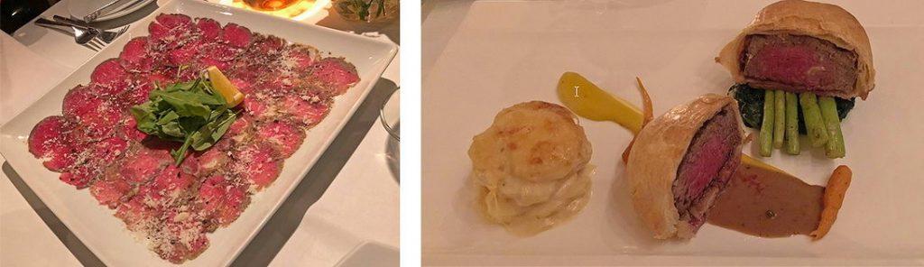 Beef Carpaccio und Filet Wellington