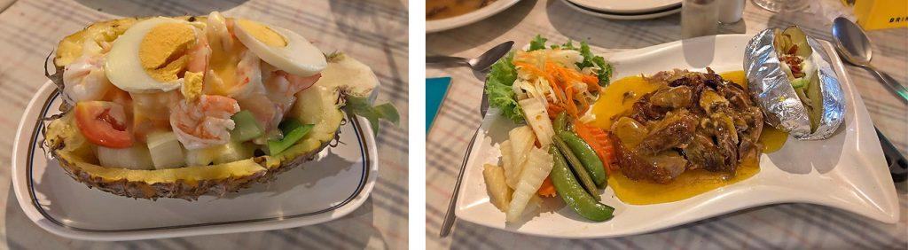 Krabbencocktail & Ente an Orangensauce mit Folienkartoffel Ruen Thai Pattaya