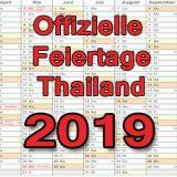 Offizielle Feiertag in Thailand 2019