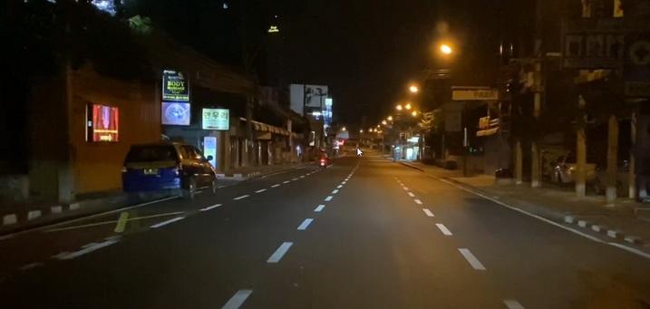 Second Road pattaya kurz vor der Ausgangssperre