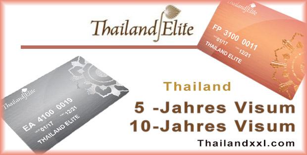 Thailand Elite Karte 5-Jahres Visum 10-Jahres visum