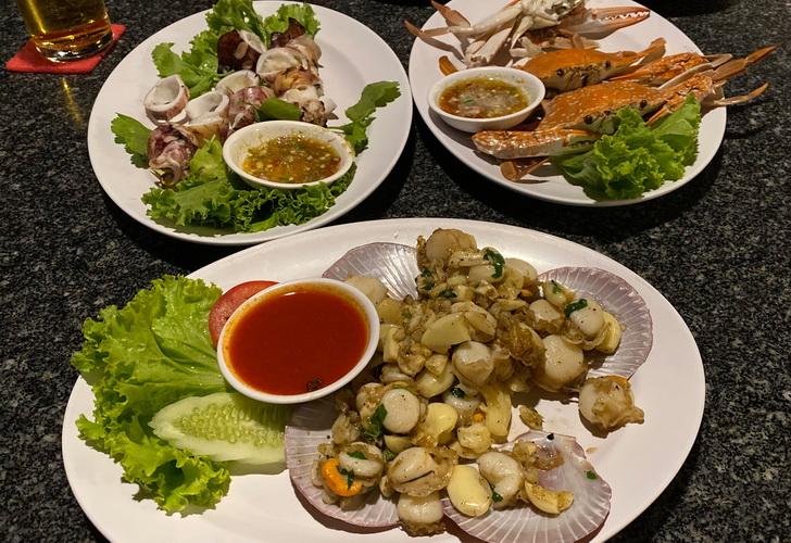 Meeresfrüchte im Mum Aroi Fischrestaurant - Seafood