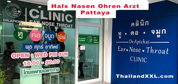 dr Apichai facharzt für hals nase ohren Pattaya